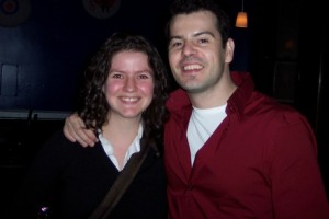 Dudes!  I am totally standing next to Jordan Knight!