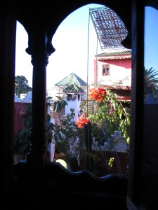 Solo in Morocco - the view from my room in Meknes