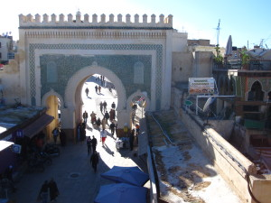 Solo in Morocco - Bab Bou Jeloud in Fez