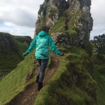 Climbing in the Fairy Glen on Skye!